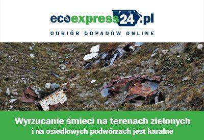 Wyrzucanie śmieci na terenach zielonych i na osie